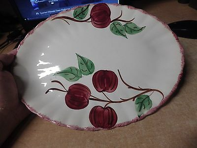 VINTAGE Blue Ridge Southern Pottery - QUAKER APPLELARGE OVAL SERVING PLATTER