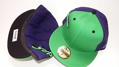 New Era Hat Cap Fitted Superman Size 7 Green Purple 59Fifty