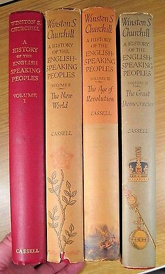 1956 Winston Churchill: A History of the English-Speaking Peoples - 1st Ed, 4vol