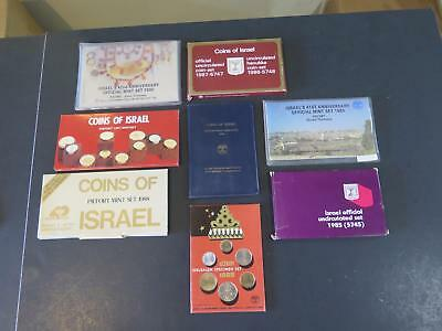 Coins Of Israel Official Mint Sets Piefort Collection Lot Sheqel Lira Argot #c