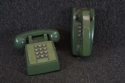 Set Of Two Bell System By Western Electric Green Vintage Phones Keypad