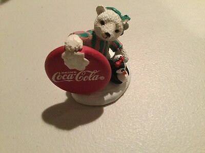 Coca-Cola Polar Bears Collection 72022 Who Says Girls Can't Throw Statue 1995