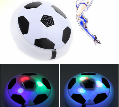 Indoor Outdoor Toy Soccer Disk Air Power Football Hover Glide Children Game LED