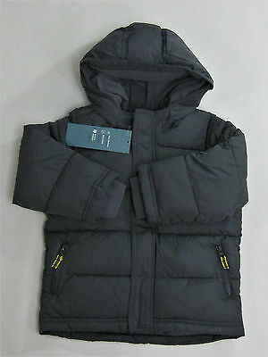 NWT Toddler Boys Old Navy Size 5 5t Gray Frost Free Puffer Winter Coat