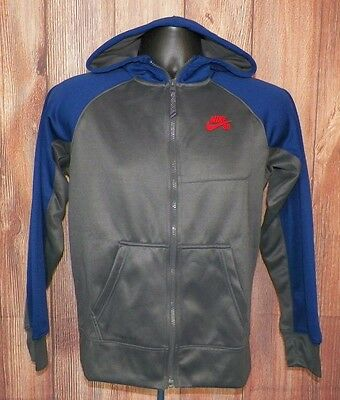 Nike SB Long Sleeve Jacket Youth Boy Blue Gray Size Large Full Zip #12