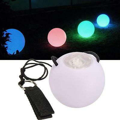 LED Multi-Coloured Glowing  POI Thrown Balls For Belly Dance Hand Prop MT