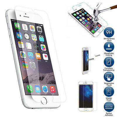 Premium Screen Protector Tempered Glass Protective Film Guard Fr iPhone 6 7 Plus
