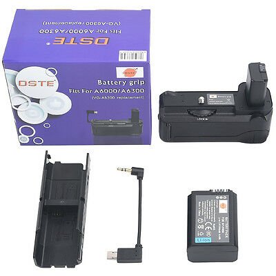 DSTE VG-6300 Battery Grip for Sony A6300 A6000 Camera with NP-FW50 Battery