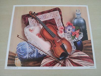 Art Prints with Paper Tole Instructions - Serenade Violin