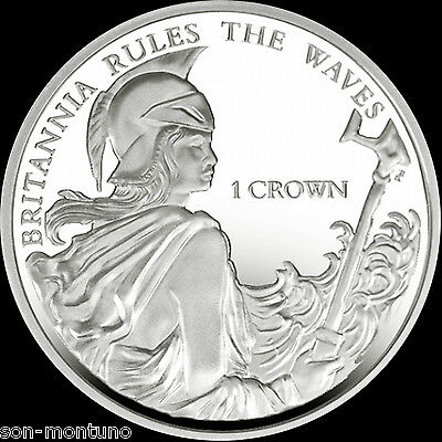 BRITANNIA RULES THE WAVES - 2015 Falkland Islands 1 Crown Cupro Nickel Unc. Coin
