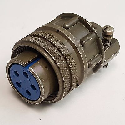 Amphenol Military Connector 18-11S Female Connector, 5 Pin