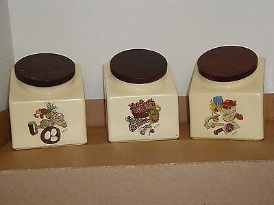 Vintage Hyalyn Porcelain 8 Pc Kitchen Set--Canisters-Cookie--Wendy Wheeler