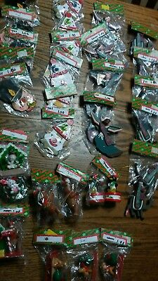lot of 32 nwt vintage wooden christmas ornaments # 32  ornament