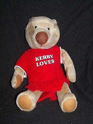 Vintage Avon Kerby Loves Red Gown Teddy Bear Plush 1983 Gallery Originals 14""
