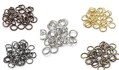 100pcs Open Jump Rings Split Connectors Findings Jewelry Making Craft