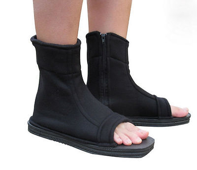 Cosplay Shoes Top Naruto Konoha Ninja Village Black Sandals Boots Shoes
