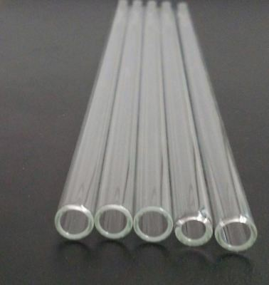 "Borosilicate Glass Tubing 10 mm OD 8 mm ID Pyrex Blowing Tubes 11-11.5"" 8"" 6"" 4"""