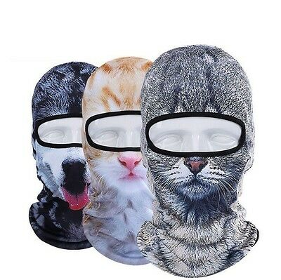 3D Print Animal Outdoor Motorcyle Cycling Ski Balaclava Cat Dog Full Face Mask