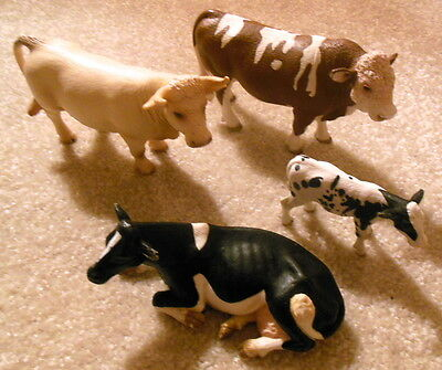 Lot of 4x SCHLEICH Germany COW Figurines