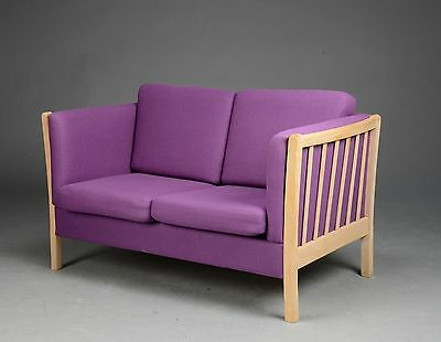 Danish 2  seater sofa upholstered  in purple wool