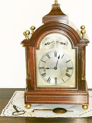 Winterhalder & Hoffmier Mahogany Musical Bracket Clock Serviced & Overhauled