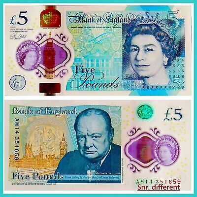 England Great Britain 5 Pound 2015 Unc.Pick New # polymer
