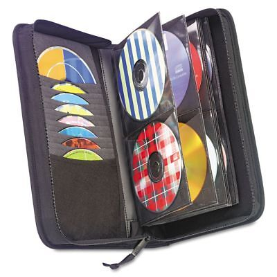 Case Logic CD/DVD Wallet, Holds 72 Discs, Black - CLGCDW64