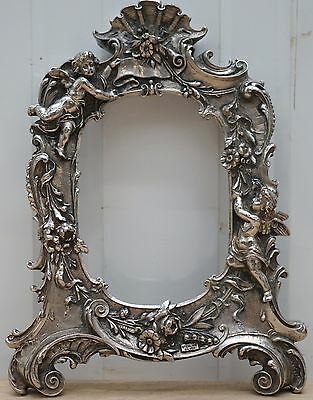 Heavy Stunning Sterling Silver Filled Cherub Detailed Picture Frame Lovely Find