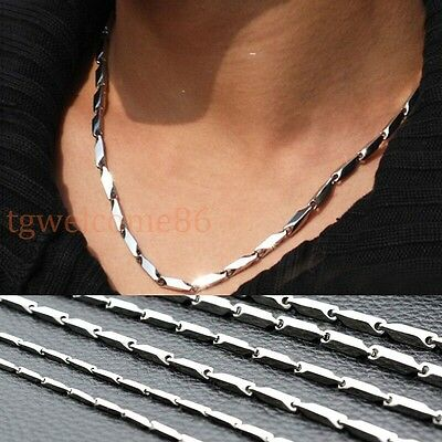 Fashion Womens Mens 2MM 3MM 4MM 5MM 316L Stainless Steel Stick Chain Necklace