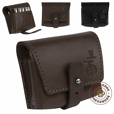Hunting Leather Rifle Shell Holder 7.62 cal Belt Pouch Ammo Wallet