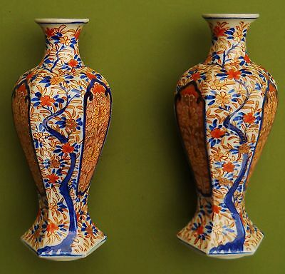 Rare Pair Chinese / Japanese Victorian 19Th Century Hand Painted Vases...perfect