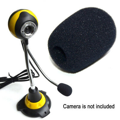 10Pcs Mini Black Microphone Headset Windscreen Sponge Foam Mic Cover Protector