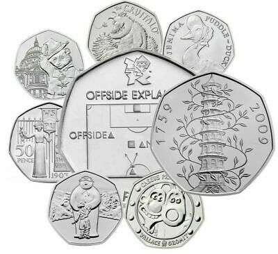 UK 50p BRILLIANT UNCIRCULAT​ED ENGLISH DECIMAL FIFTY PENCE COINS CHOICE OF DATE