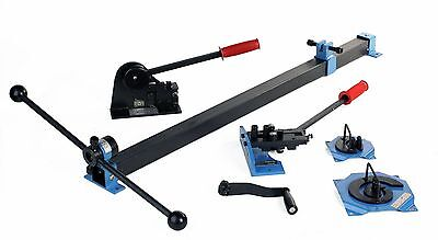 Erie Tools® 4 PC Metal Fabrication Kit Shear Punch Spiral Rivet Curve Bend Roll