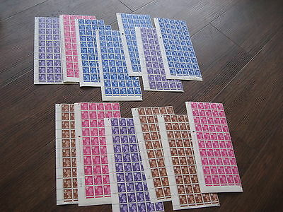 Regional Scotland Wales Northern Ireland 13  Quarter Sheets Sg Cat £618 Mnh