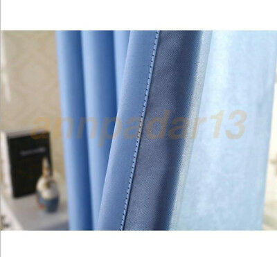 Solid Grommet Window Curtain Lined Blackout Thermal Treatment Drape Panel Luxury