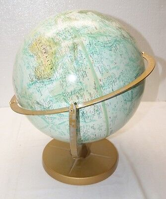 "VINTAGE REPLOGLE WORLD OCEAN SERIES GLOBE 12"" DIAMETER RAISED RELIEF USA MADE  k"