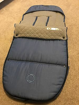 Bugaboo Special Edition Blend Footmuff, Blue And Grey