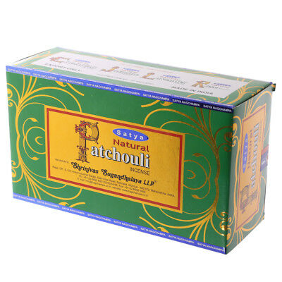 Satya Natural Patchouli Incense Sticks Pack Of 12 - 1416