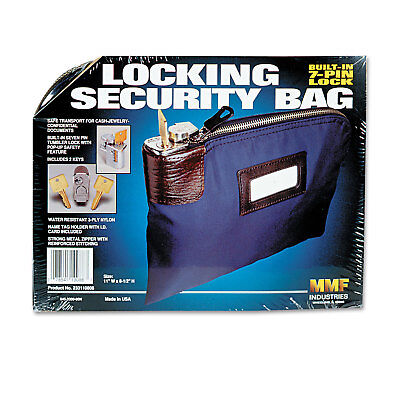 MMF Industries UltimaSeven Locking Security Bag With Label Holder - MMF233110808