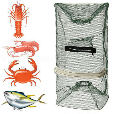 Foldable Fishing Trap Net Crab Fish Prawn Shrimp Cage Crayfish Lobster Live Bait