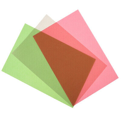 50pcs 15x10cm Vellum Coloured Translucent Tracing Paper for Rubber Stamp DIY