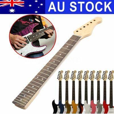 AU 22 Fret Maple Rosewood Wooden Electric Guitar Neck Fingerboard For ST Parts