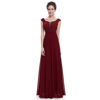 New Long Chiffon Formal Prom Bridesmaid Dress Evening Party 08628 Size 12