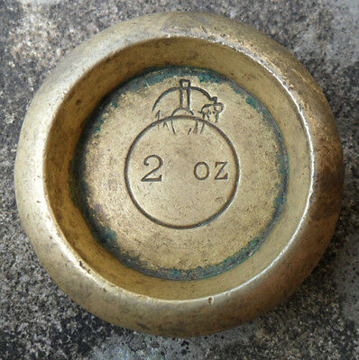 Vintage / Antique Provincial Brass Weight - 2oz - Leeds