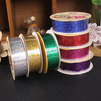 Lace Roll DIY Washi Decorative Sticky Ribbon Masking Tape Self Adhesive MO