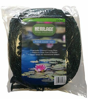 Pond cover net 2m x 3m black cat heron leaves pool for Koi pool cover