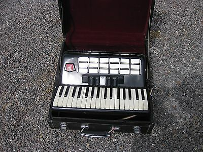 BAILE Piano Accordion 34 keys 48 Bass with Leather Straps & Hard Case