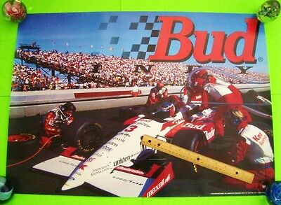 "1994 BUD / KMART INDY RACE CAR #3 POSTER 28"" X 20"" Gorgeous BUDWEISER BEER Xlnt+"