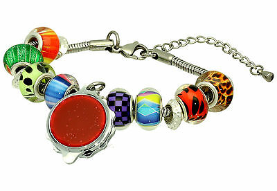 SOS Talisman Medical Bracelet - Beaded Style with Sparkle Red Design Capsule